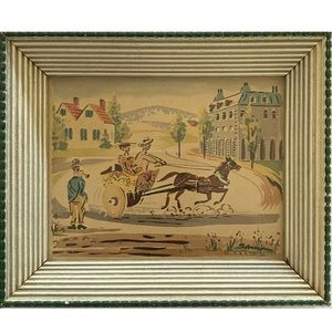 Vg Victorian V.A.P Co. Mini Print Lithograph Art